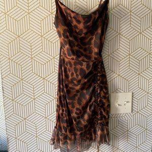 Animal print strappy dress